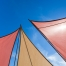 A clean shade sails basking in sunshine