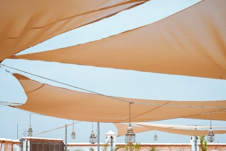 light colour shade-sail
